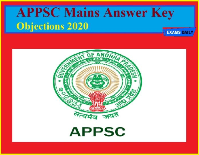 APPSC Mains Answer Key Objections 2020