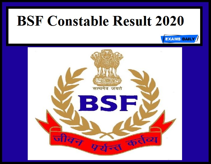 BSF Constable Result 2020
