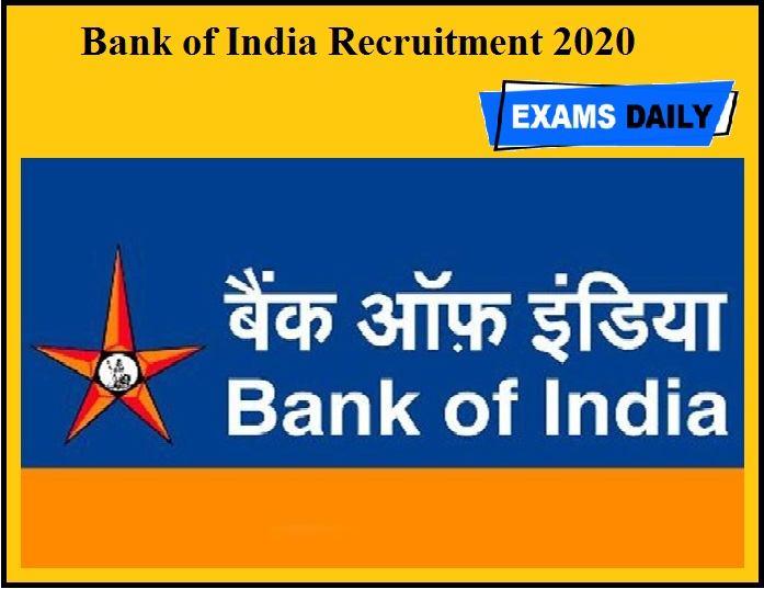 Bank of India Recruitment 2020 OUT