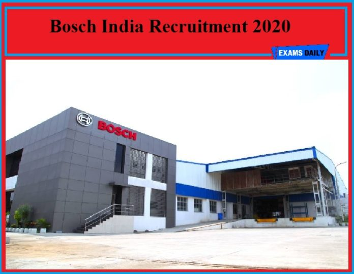 Bosch India Recruitment 2020