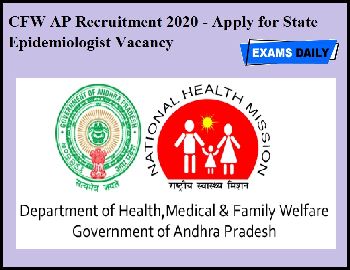 CFW AP Recruitment 2020 - Apply for State Epidemiologist Vacancy