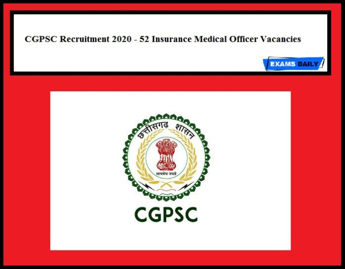 CGPSC Recruitment 2020 OUT