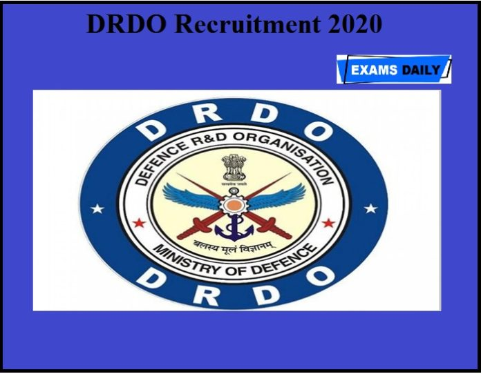 DRDO Recruitment 2020 OUT