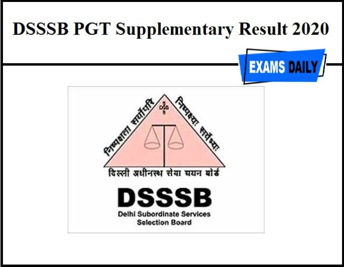 DSSSB PGT Supplementary Result 2020