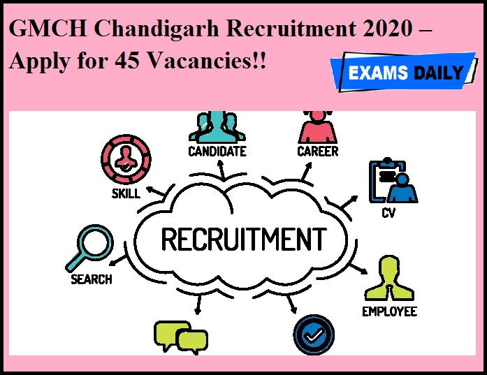 GMCH Chandigarh Recruitment 2020 OUT – Apply for 45 Vacancies!!