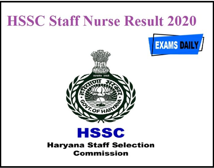 HSSC Staff Nurse Result 2020