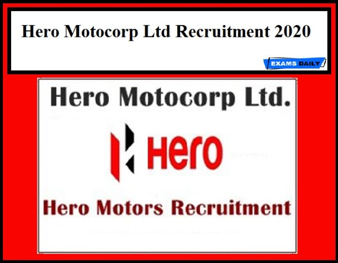 Hero Motocorp Ltd Recruitment 2020