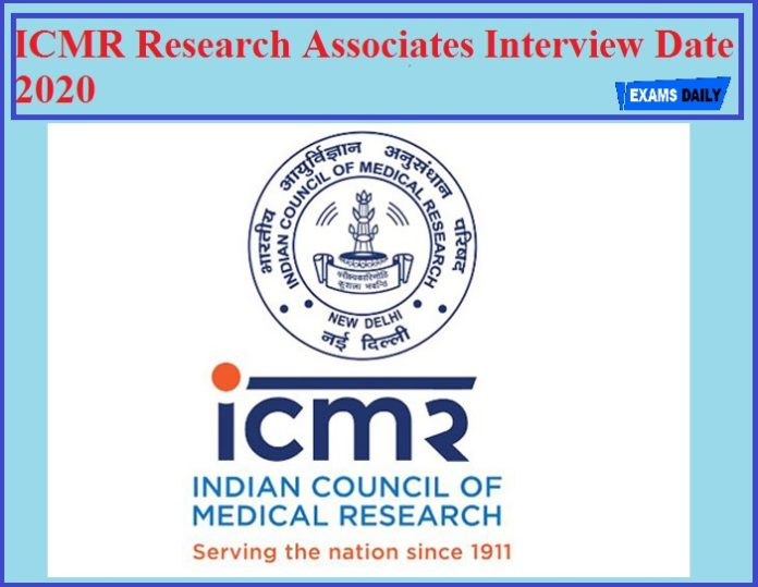 ICMR Research Associates Interview Date 2020