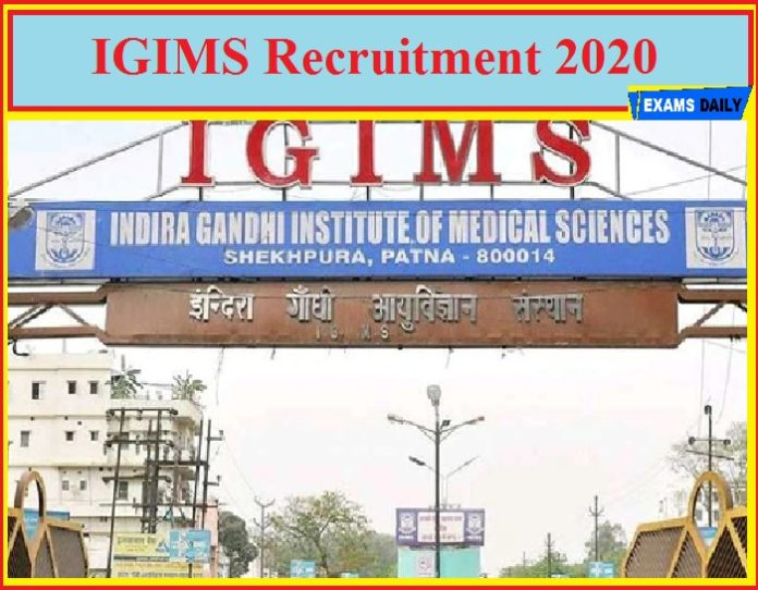 IGIMS Recruitment 2020