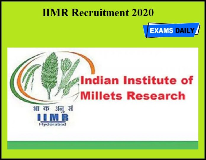 IIMR Recruitment 2020 OUT