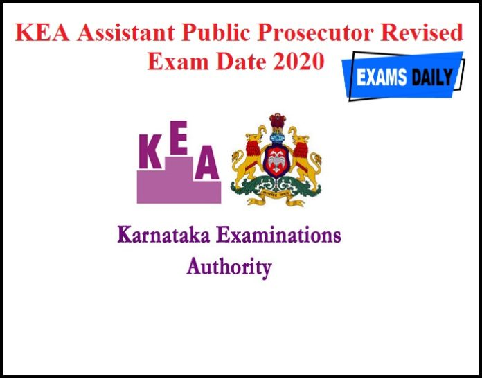 KEA Assistant Public Prosecutor Revised Exam Date 2020
