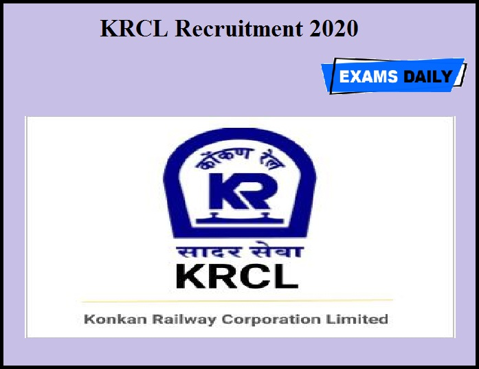 KRCL Recruitment 2020 OUT