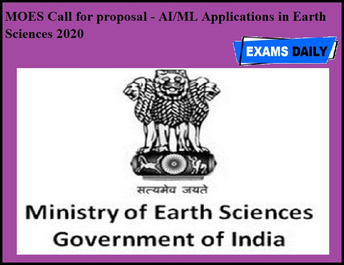 MOES Call for proposal - AI & ML Applications in Earth Sciences 2020