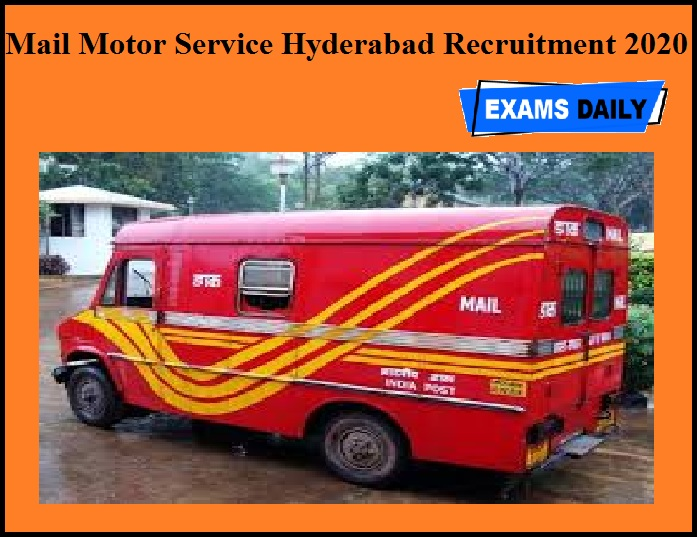 Mail Motor Service Hyderabad Recruitment 2020 OUT