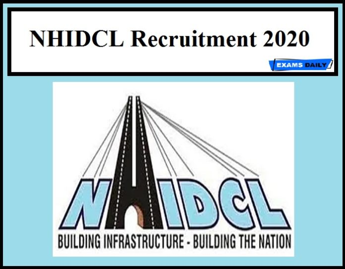 NHIDCL Recruitment 2020 Out – Apply Now!!!!!!!!!