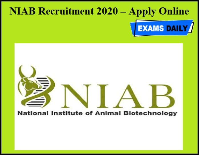 NIAB Recruitment 2020 OUT – Apply Online
