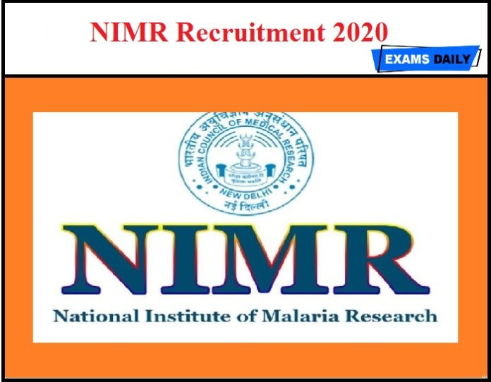 NIMR Recruitment 2020 OUT