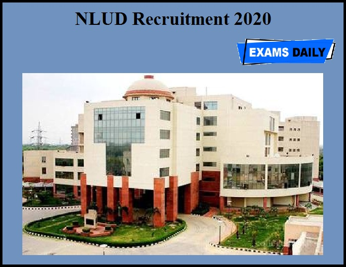NLUD Recruitment 2020 OUT