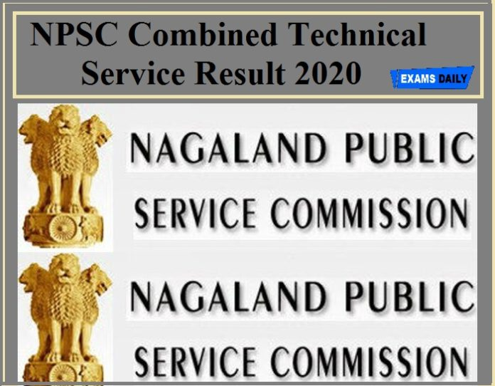 NPSC Combined Technical Service Result 2020
