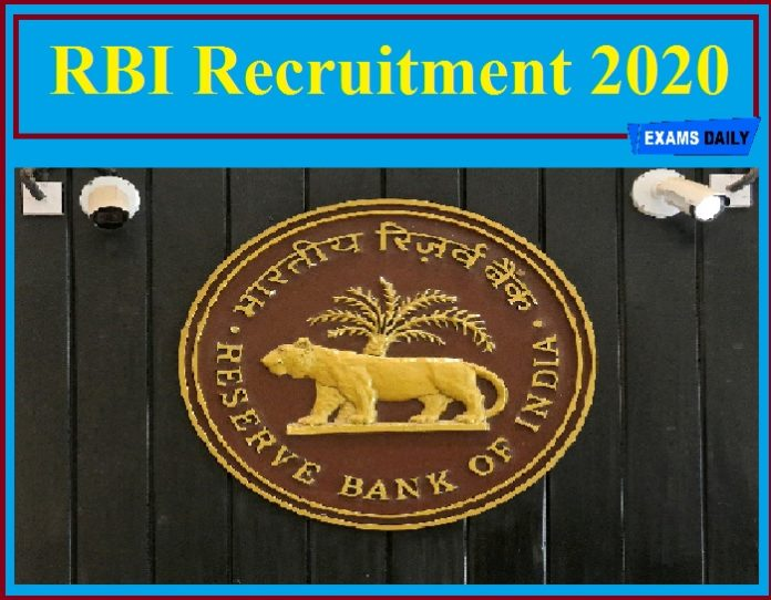 RBI Recruitment 2020 (Out) – Apply For Medical Consultant (MC) Vacancy!!!