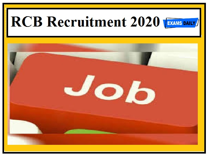 RCB Recruitment 2020 Out – Apply Project Manager Posts