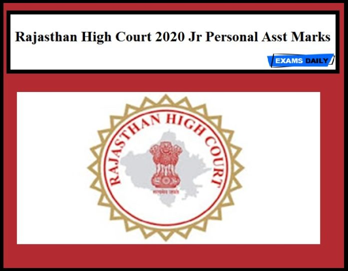 Rajasthan High Court Results 2020 Out – Download Jr Personal Asst Marks