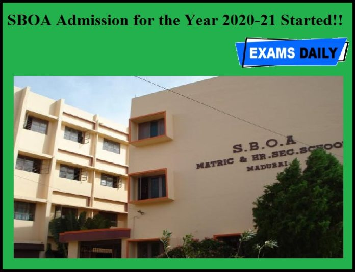 SBOA Admission for the Year 2020-21 Started!!