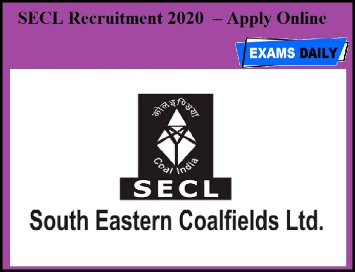 SECL Recruitment 2020 OUT – Apply Online