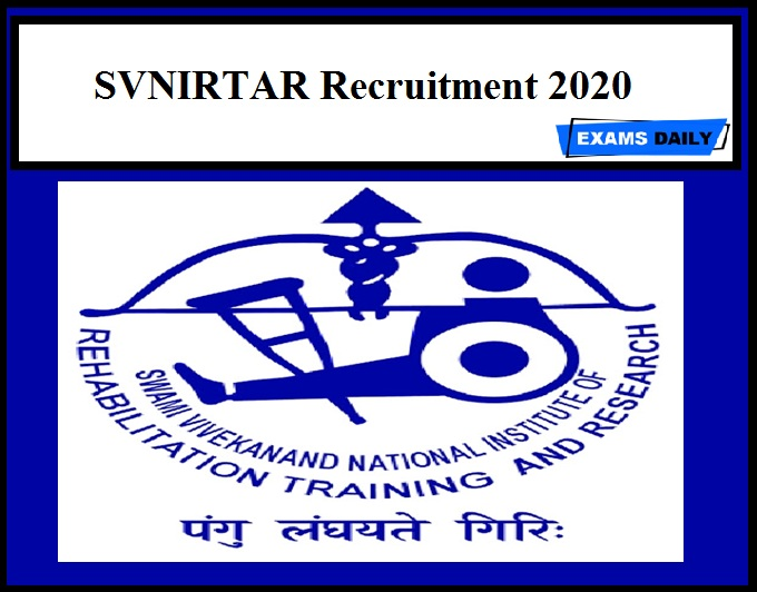 SVNIRTAR Recruitment 2020