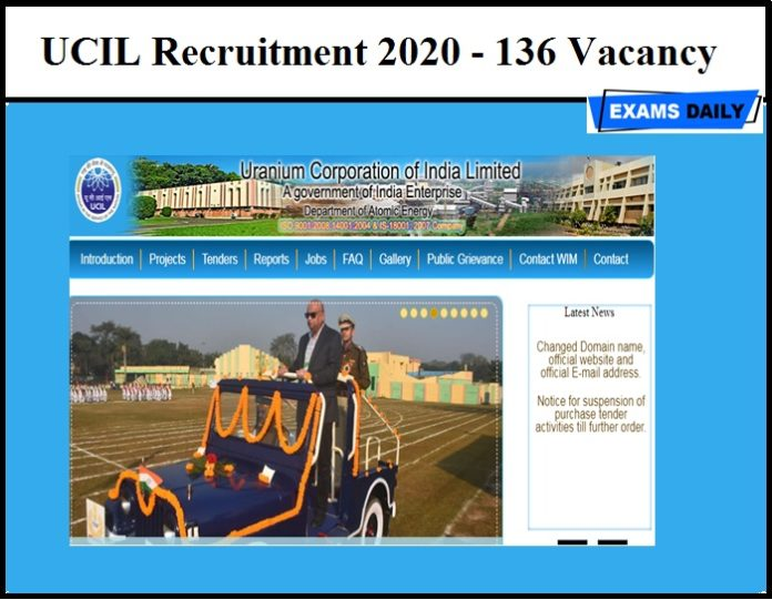UCIL Recruitment 2020 (Out) - 136 Vacancy