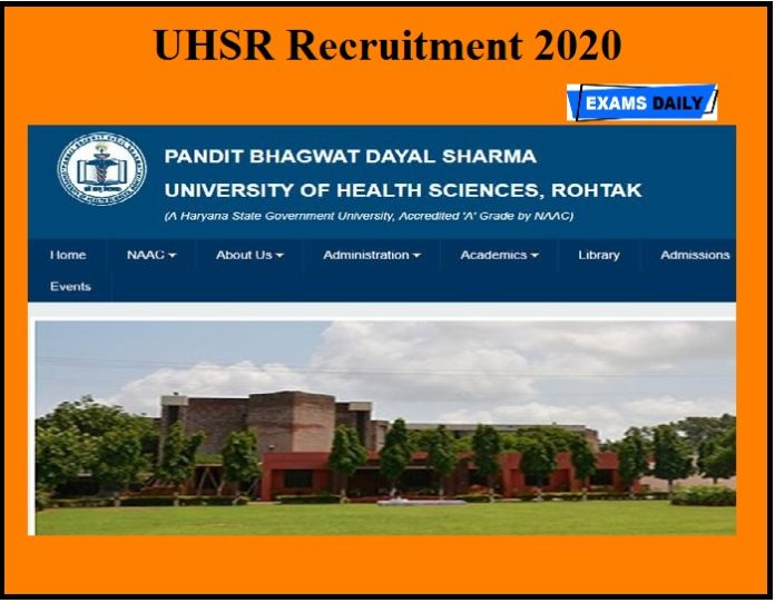 UHSR Recruitment 2020 OUT