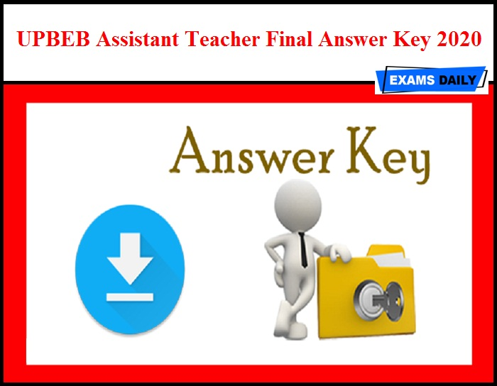 UPBEB Assistant Teacher Final Answer Key 2020