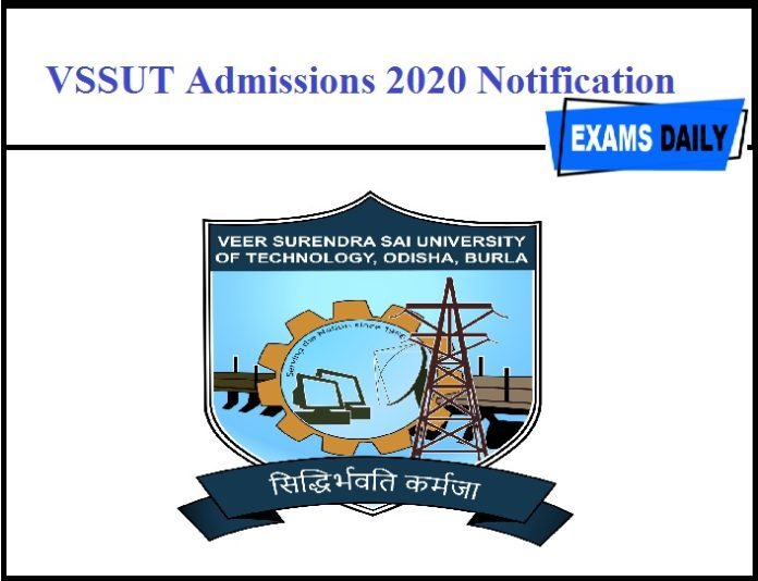 VSSUT Admissions 2020 Notification