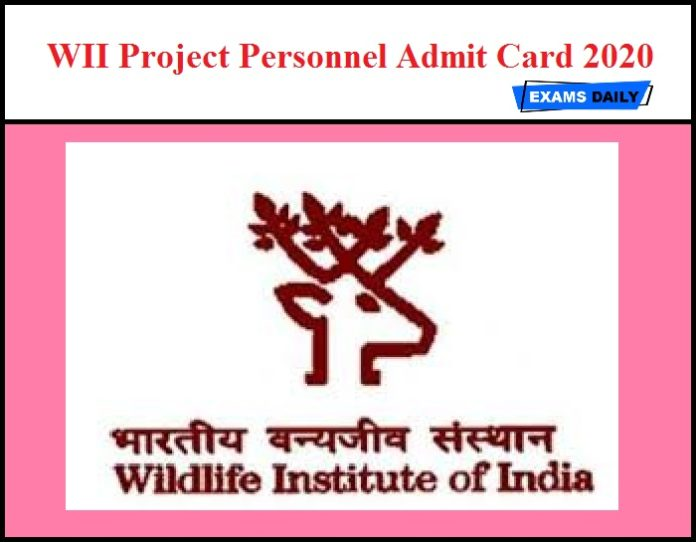 WII Project Personnel Admit Card 2020