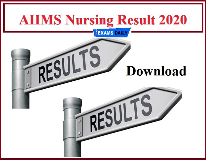 AIIMS Nursing Result 2020