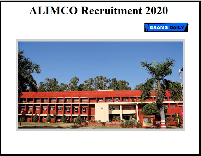 ALIMCO Recruitment 2020 OUT