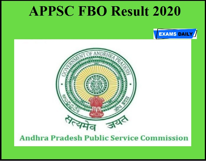 APPSC FBO Result 2020 OUT