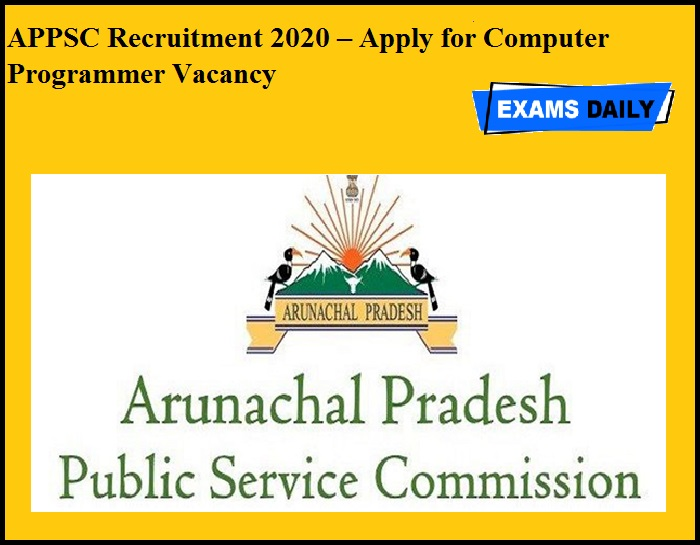 APPSC Recruitment 2020 OUT – Apply for Computer Programmer Vacancy