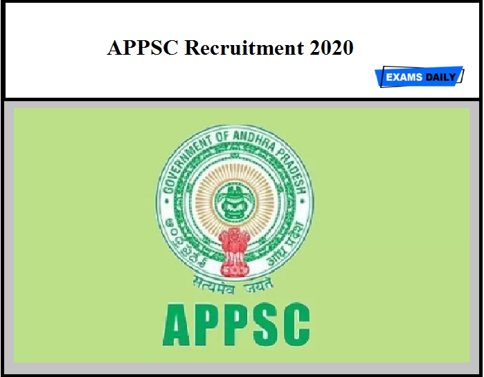 APPSC Recruitment 2020 Out- Apply for Medical officer Vacancy