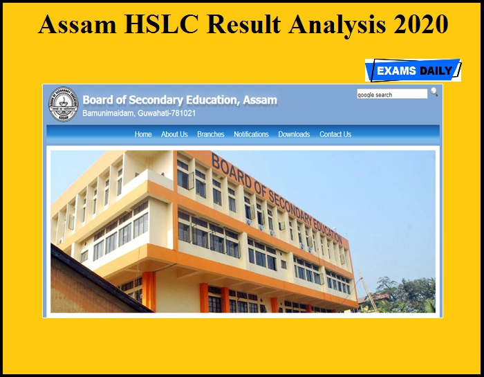Assam HSLC Result Analysis 2020 OUT