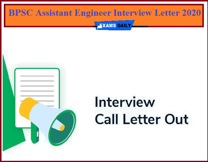 BPSC Assistant Engineer Interview Letter 2020