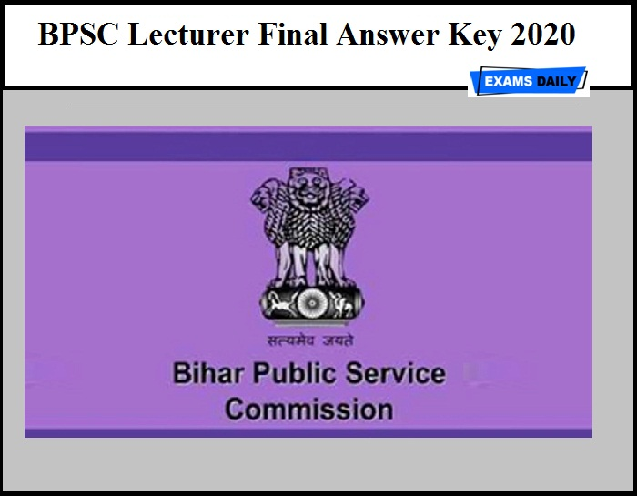 BPSC Lecturer Final Answer Key 2020