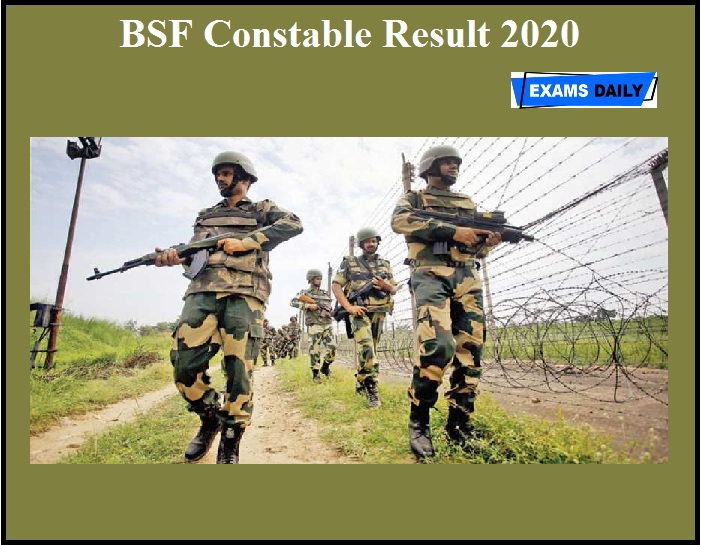 BSF Constable Result 2020 OUT (1)