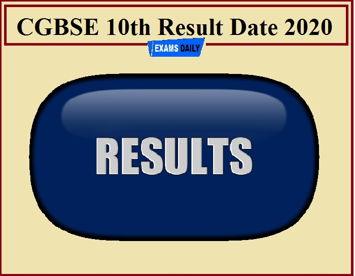 CGBSE 10th Result Date 2020