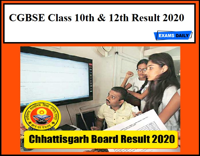 CGBSE Class 10th & 12th Result 2020