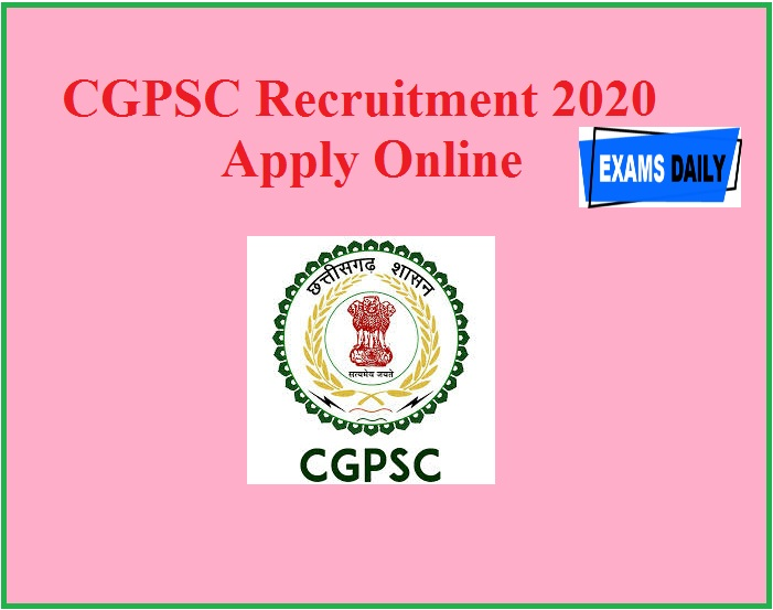 CGPSC Recruitment 2020 Apply Online