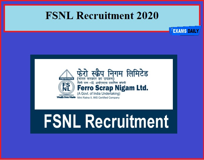 FSNL Recruitment 2020
