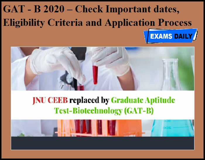 GAT - B 2020 – Check Important dates, Eligibility Criteria and Application Process