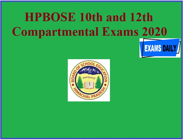 HPBOSE 10th and 12th Compartmental Exams 2020