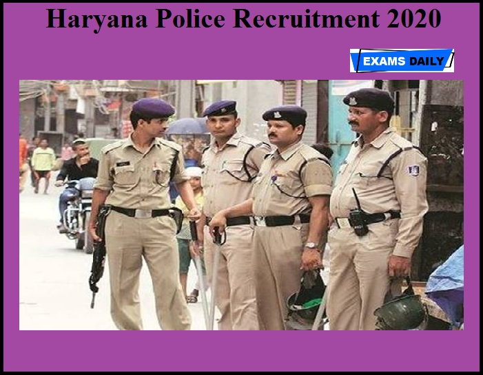 Haryana Police Recruitment 2020 OUT